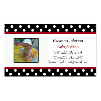 Polka Dot Mom Contact Card Business Card Templates