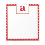 Polka Dot Monogram Memo Note Pads