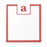 Polka Dot Monogram Memo Notepads
