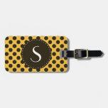 Polka Dot Monogram Personalized Luggage Tag