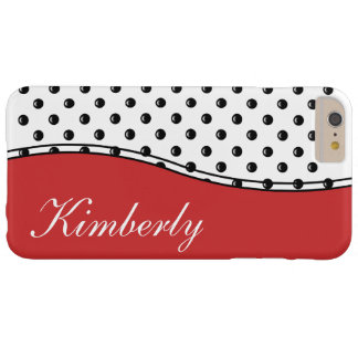 Polka Dot Monogram Style Barely There iPhone 6 Plus Case