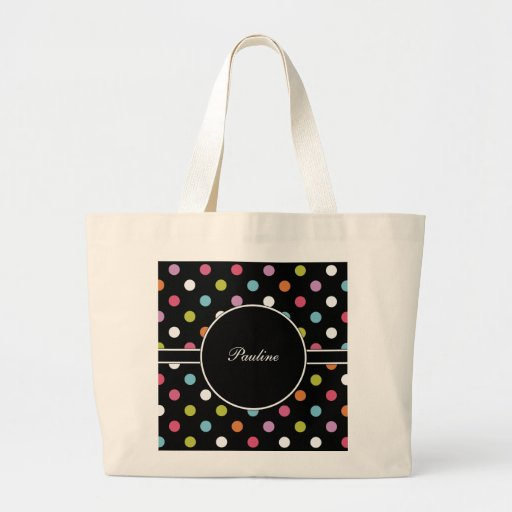 Polka Dot Monogram Tote Bag