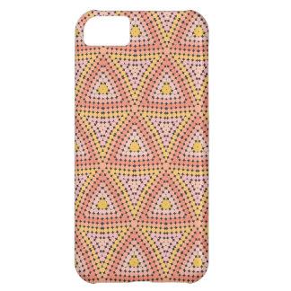 Polka dot mosaic pattern iPhone 5C cases