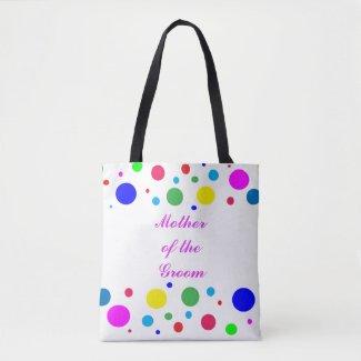 Polka Dot Mother of the Groom Wedding Tote Bag