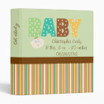 Polka Dot Multi Color Personalized Baby Shower Binder