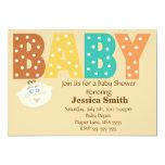 Polka Dot Multi Color Personalized Baby Shower Custom Invitations