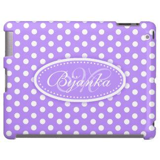 Polka dot named purple ipad case