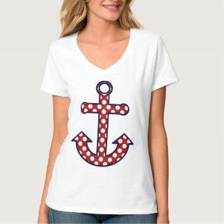 Polka Dot Nautical Anchor T-shirt