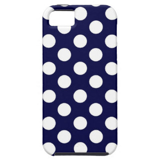 Polka Dot Navy and White iPhone case iPhone 5 Case