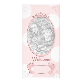 Polka Dot New Baby Photo Template