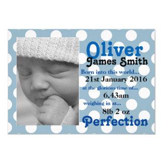 Polka Dot New Birth Announcement Card