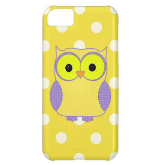 Polka Dot Owl Cover For iPhone 5C