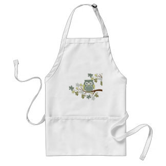 Polka Dot Owl in Tree Adult Apron