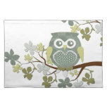 Polka Dot Owl in Tree Cloth Place Mat