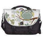 Polka Dot Owl in Tree Commuter Bags