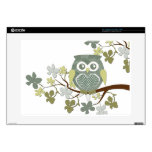 """Polka Dot Owl in Tree Decal For 15"""" Laptop"""