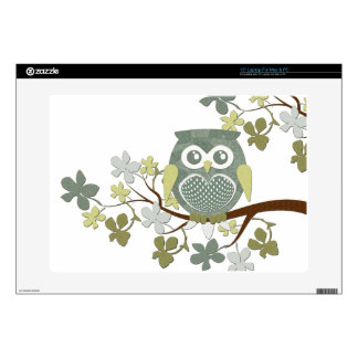 "Polka Dot Owl in Tree Decals For 15"" Laptops"