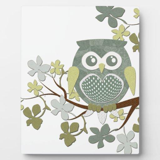 Polka Dot Owl in Tree Display Plaques