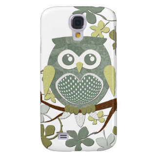 Polka Dot Owl in Tree Galaxy S4 Cover