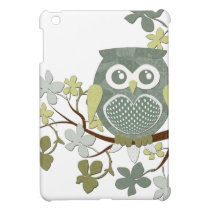 Polka Dot Owl in Tree iPad Mini Cover