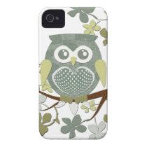 Polka Dot Owl in Tree iPhone 4 Cover