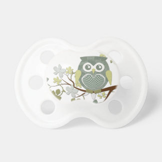 Polka Dot Owl in Tree Pacifier