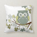 Polka Dot Owl in Tree Pillows