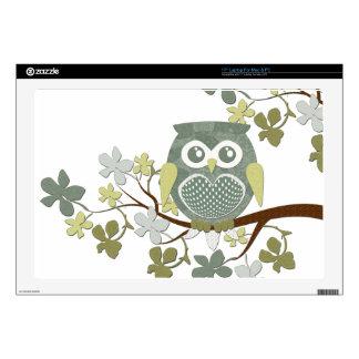 Polka Dot Owl in Tree Skins For Laptops