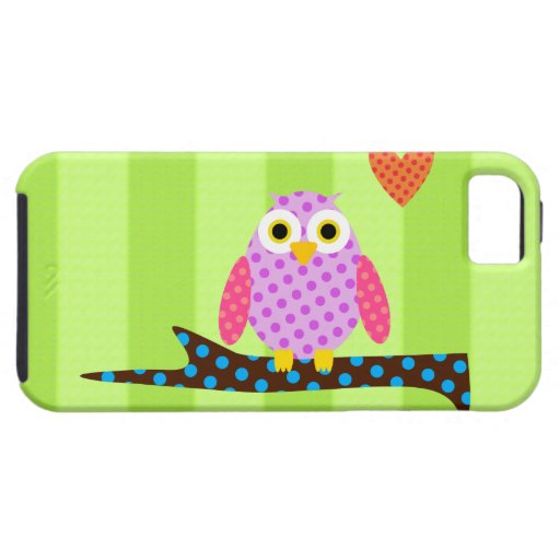 Polka Dot Owl on a Tree Branch iPhone 5 Case