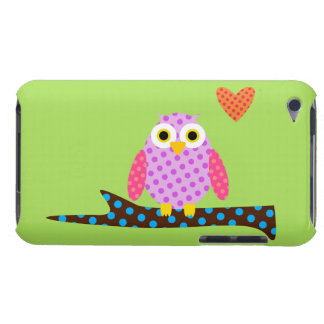 Polka Dot Owl on a Tree Branch iPod Case-Mate Case