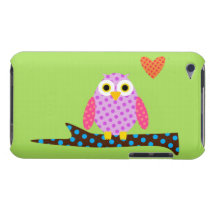Polka Dot Owl on a Tree Branch iPod Touch Case-Mate Case