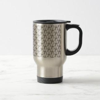 Polka Dot Panda Pattern - Custom Color Background Travel Mug