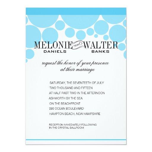 "Polka Dot Parade baby blue 5.5"" X 7.5"" Invitation Card"