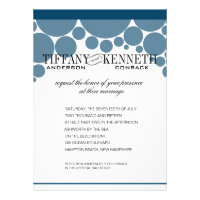 Polka Dot Parade dark blue Personalized Announcement