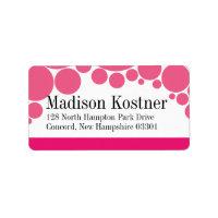 Polka Dot Parade | hot pink Custom Address Label