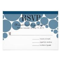 Polka Dot Parade RSVP dark blue Personalized Invitations