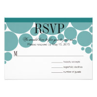 Polka Dot Parade RSVP teal Announcements