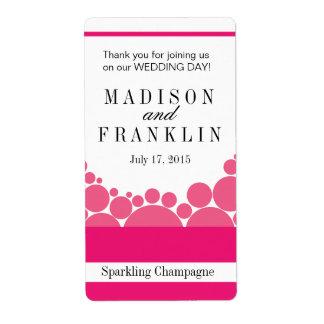 Polka Dot Parade Wine Champagne hot pink Labels