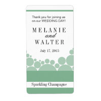 Polka Dot Parade Wine Champagne | mint Personalized Shipping Label