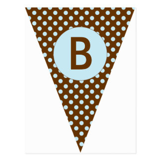 Polka Dot Party Flag Bunting Banner Post Card