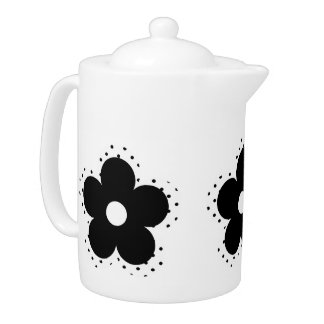 Polka Dot Party Flower in Black and White