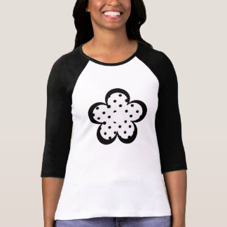 Polka Dot Party Flower in Black and White Tee Shirt