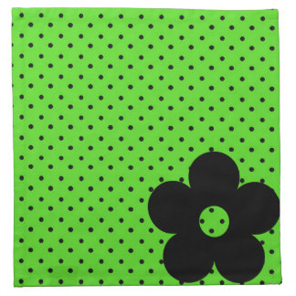 Polka Dot Party Flower in Green Napkins