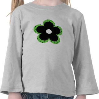 Polka Dot Party Flower in Green Tees