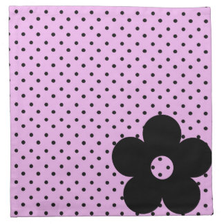 Polka Dot Party Flower in Pink Printed Napkins