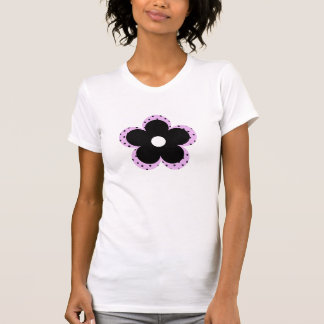Polka Dot Party Flower in Pink Shirt