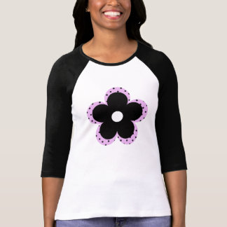 Polka Dot Party Flower in Pink Tee Shirt