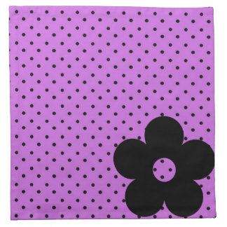 Polka Dot Party Flower in Purple Napkins