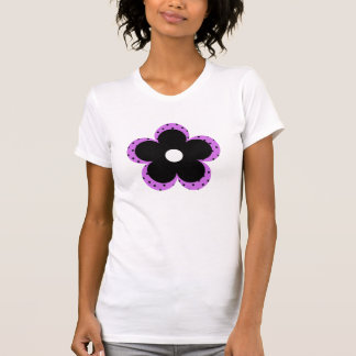 Polka Dot Party Flower in Purple T Shirt