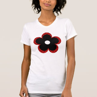 Polka Dot Party Flower in Red Tee Shirts